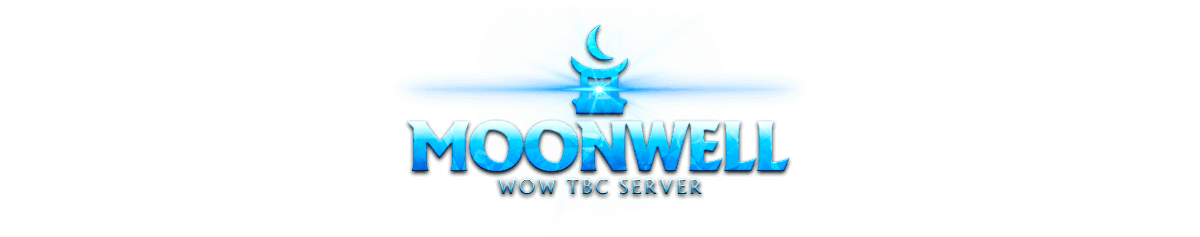 Moonwell > Website design for private server World of Warcraft. Logotype