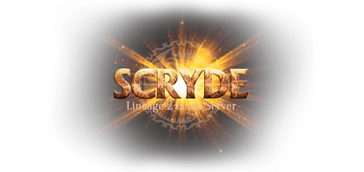 Scryde > Website for Lineage 2 private  server. Logotype of the project
